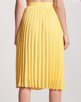 jupe soleil jaune