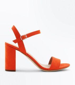 sandales-en-suédine-orange-à-talons-blocs