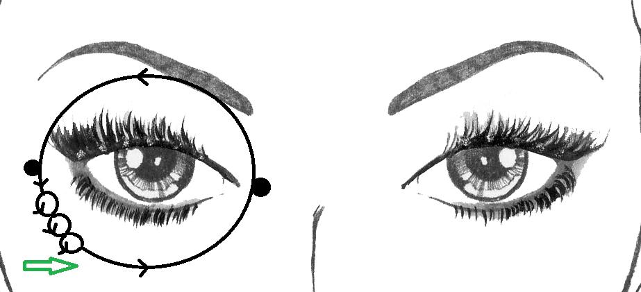 massage-contour-oeil-petits-cercles